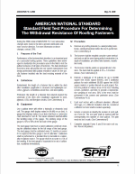 pdf  from AMERICAN NATIONAL STANDARD Standard Field Test Procedure For Determining The Withdrawal Resistance Of Roofing Fasteners